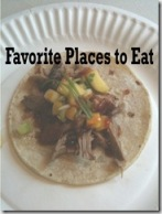 Favorite Places to Eat